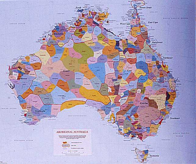 Indigenous Australia Map